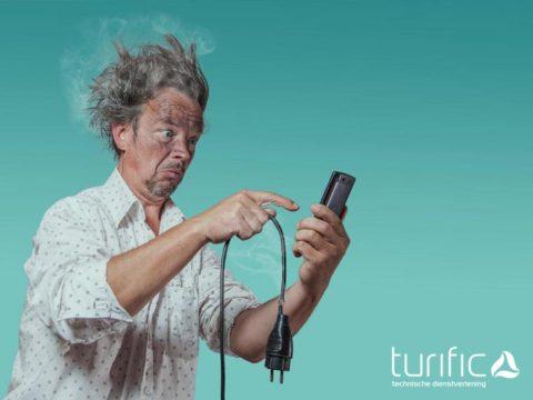 Audiovisueel monteur technicus met een hoofdletter E | Turific Tilburg